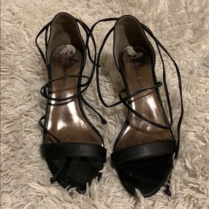 NWT lace up Steve Madden heels